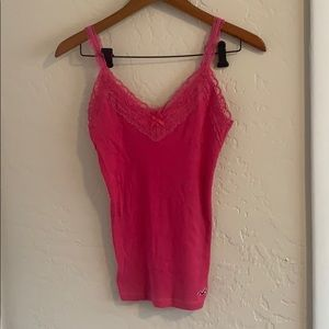 Hollister lace trim sweetheart tank top